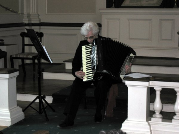 Joan Gilyeat Moyer performs at the Meridian Street Methodist Church Chapel.