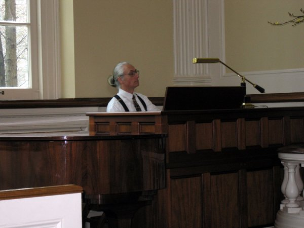 Henry Doktorski performs at the Meridian Street Methodist Church Chapel.