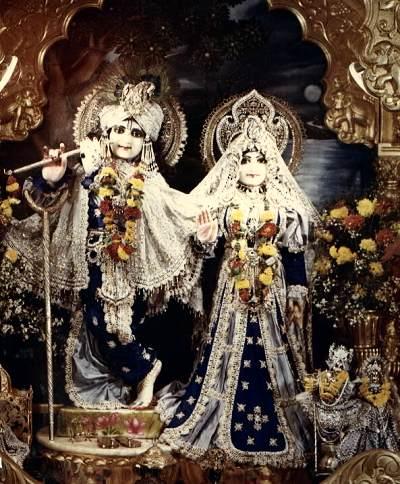 New vrindaban s radha vrindaban candra deities ca 1982